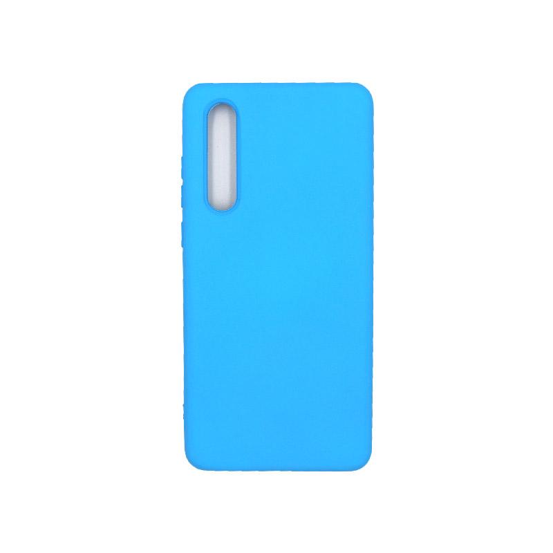 Θήκη Huawei P30 Silky and Soft Touch Silicone γαλάζιο 1