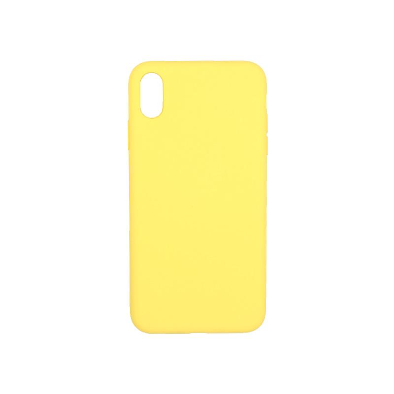 θήκη iphone Xs Max silky and soft touch κίτρινο 1
