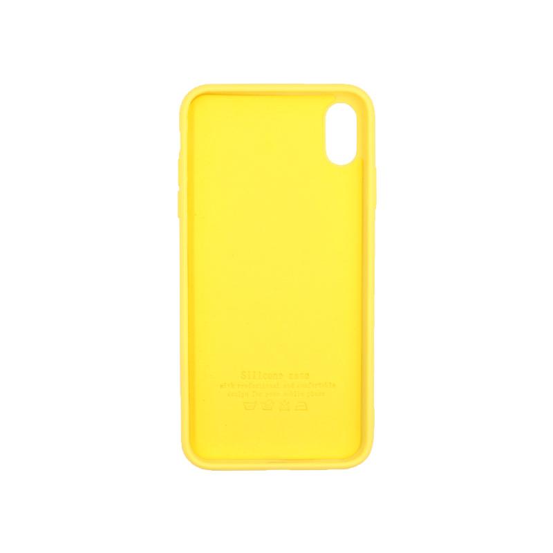 θήκη iphone Xs Max silky and soft touch κίτρινο 2