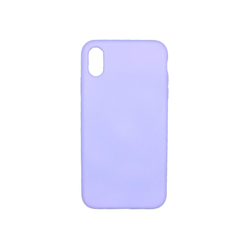 θήκη iphone Xs Max silky and soft touch μωβ 1