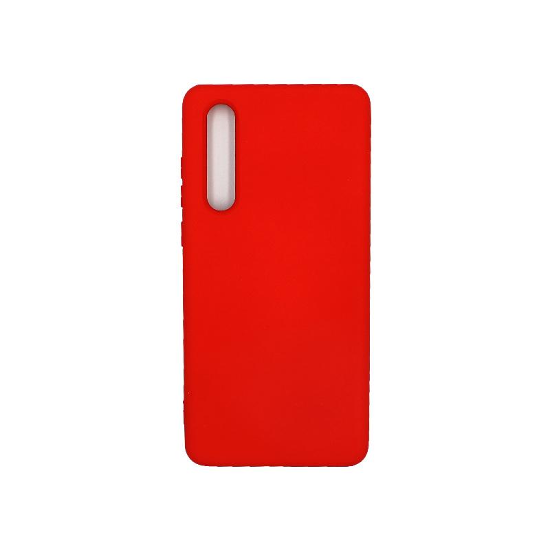 Θήκη Huawei P30 Silky and Soft Touch Silicone κόκκινο 1