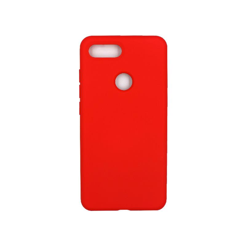 θήκη Xiaomi Mi 8 Lite silky and soft touch silicone κόκκινο 1