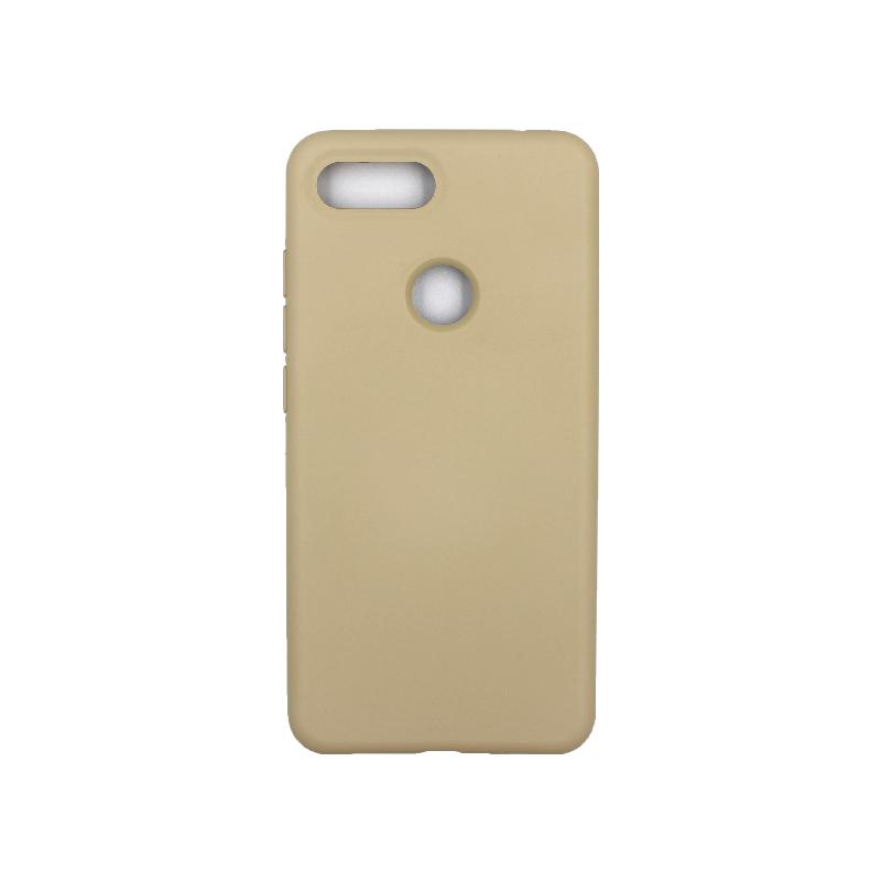 θήκη Xiaomi Mi 8 Lite silky and soft touch silicone λαδί1