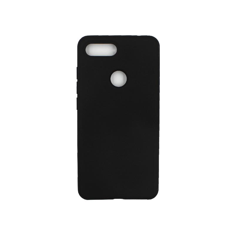 θήκη Xiaomi Mi 8 Lite silky and soft touch silicone μαύρο 1