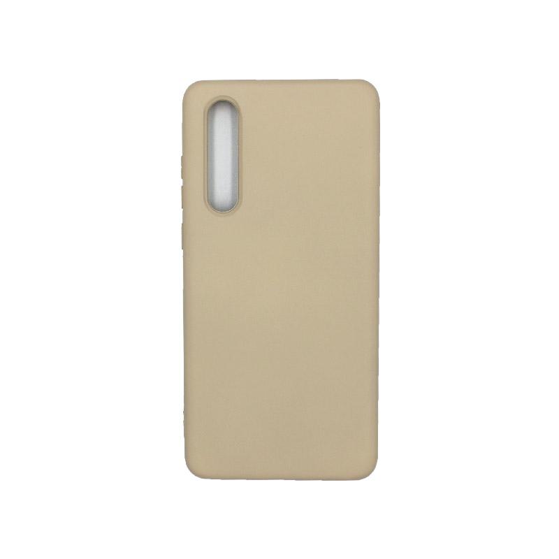 Θήκη Huawei P30 Silky and Soft Touch Silicone μπεζ 1