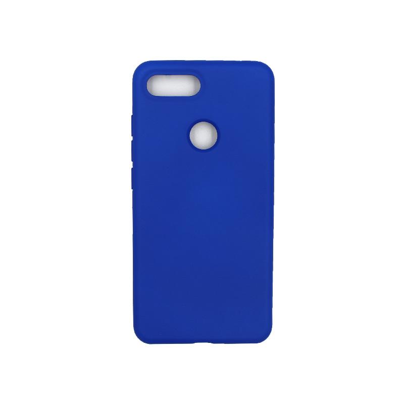 θήκη Xiaomi Mi 8 Lite silky and soft touch silicone μπλε 1