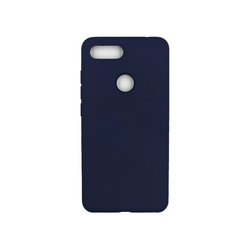 θήκη Xiaomi Mi 8 Lite silky and soft touch silicone σκούρο μπλε 1
