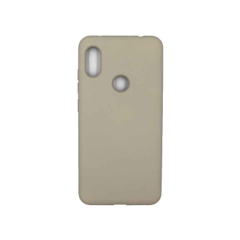 Θήκη Xiaomi Redmi Note 6 Pro Silky and Soft Touch Silicone γκρι 1