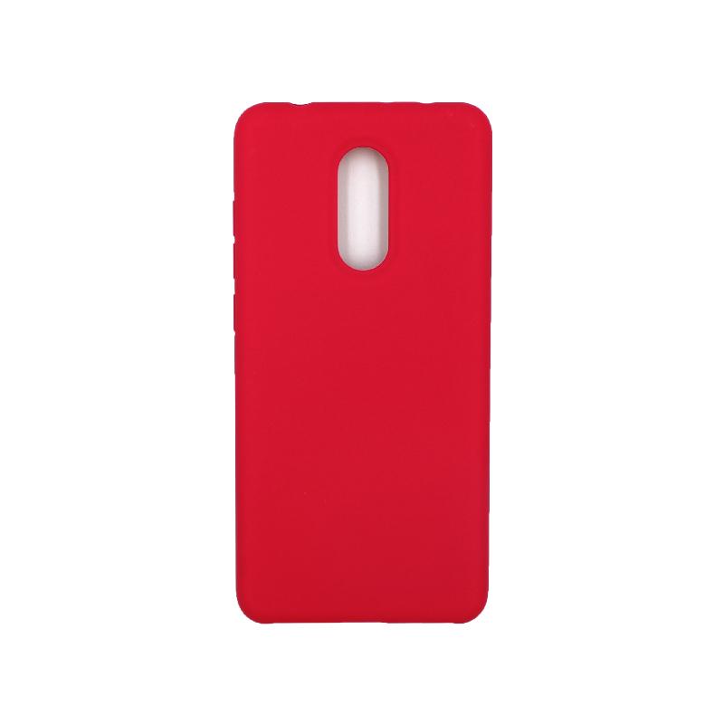 Θήκη Xiaomi Redmi 5 Silky and Soft Touch Silicone σκούρο κόκκινο 1