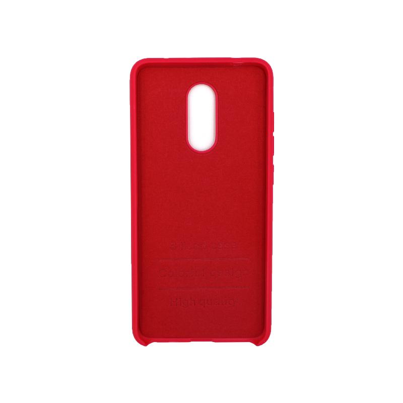 Θήκη Xiaomi Redmi 5 Silky and Soft Touch Silicone σκούρο κόκκινο 2