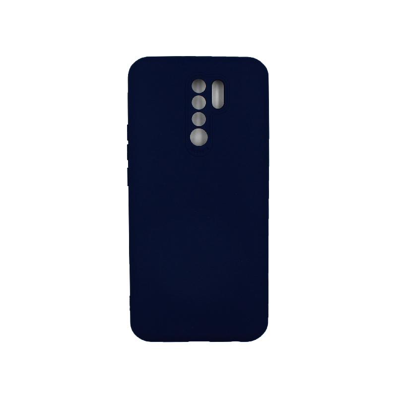 Θήκη Xiaomi Redmi 9 Silky and Soft Touch Silicone σκούρο μπλε 1