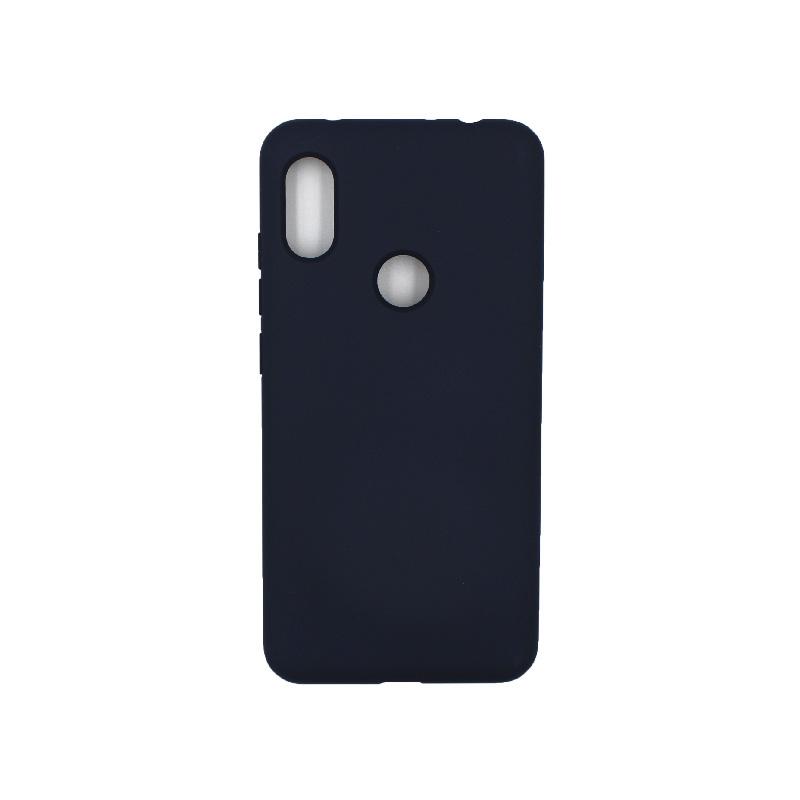 Θήκη Xiaomi Redmi Note 6 Pro Silky and Soft Touch Silicone σκούρο μπλε 1