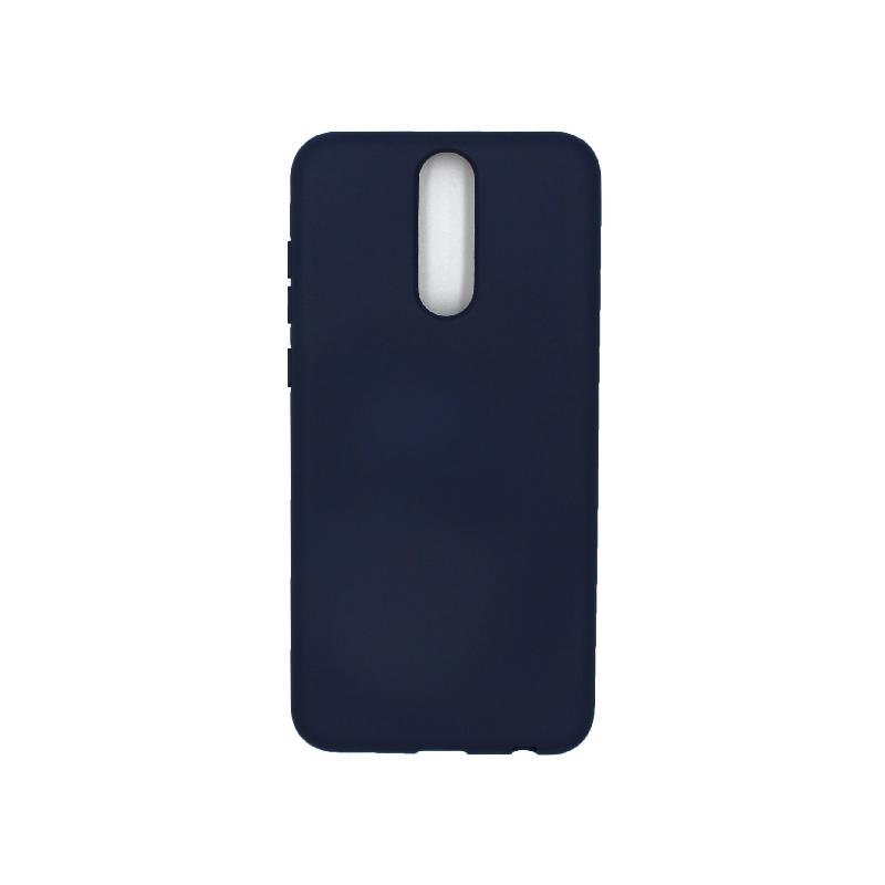 Θήκη Huawei Mate 10 Lite Silky and Soft Touch Silicone σκούρο μπλε 1