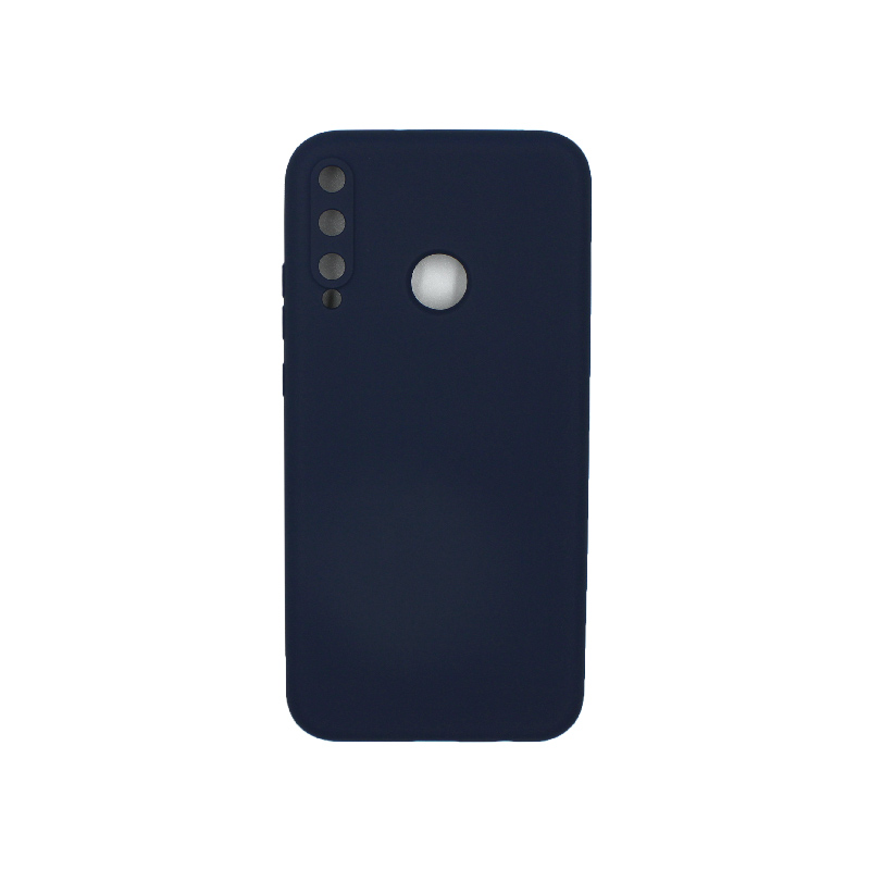 Θήκη Huawei P40 Lite E Silky and Soft Touch Silicone σκούρο μπλε 1