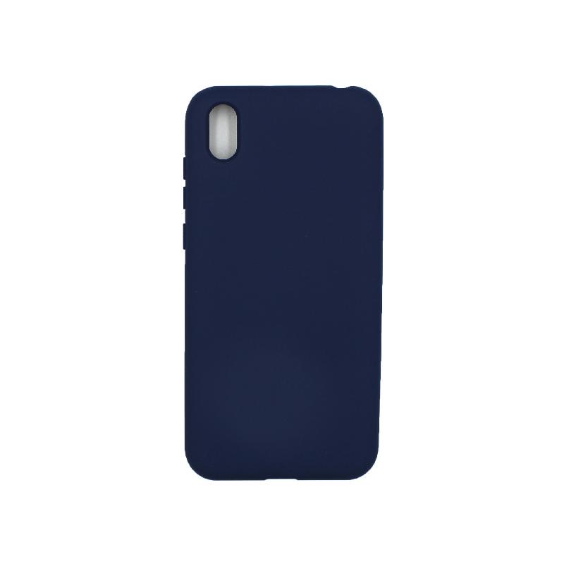 Θήκη Huawei Y5 2019 Silky and Soft Touch Silicone σκούρο μπλε 1