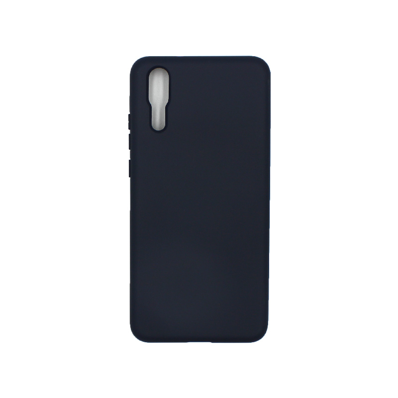 Θήκη Huawei P20 Silky and Soft Touch Silicone μπλε 1