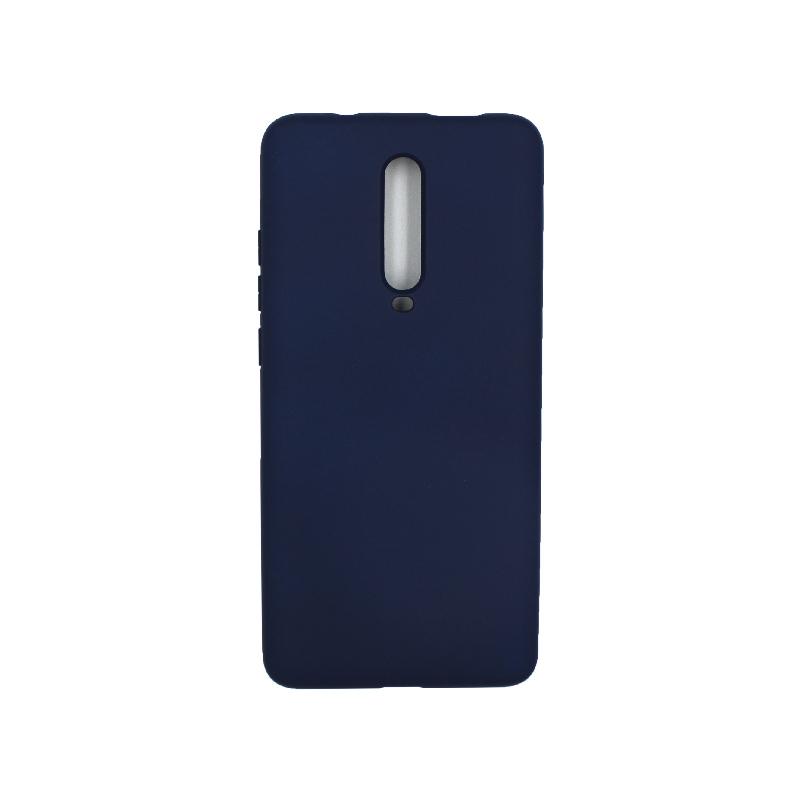 Θήκη Xiaomi Mi 9T / K20 / K20 Pro 9 Silky and Soft Touch Silicone σκούρο μπλε 1