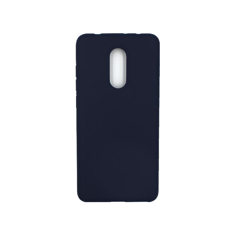 Θήκη Xiaomi Redmi 5 Silky and Soft Touch Silicone σκούρο μπλε 1