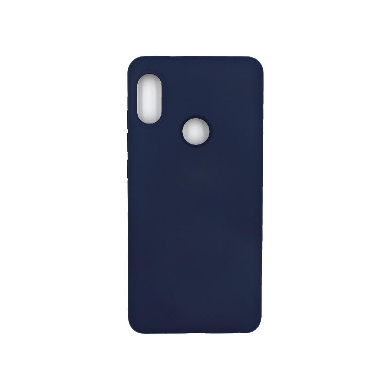 Θήκη Xiaomi Redmi Note 5 / 5 Pro Silky and Soft Touch Silicone σκούρο μπλε 1