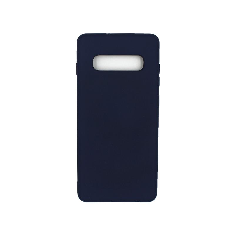 Θήκη Samsung Galaxy S10 Plus Silky and Soft Touch Silicone σκούρο μπλε 1
