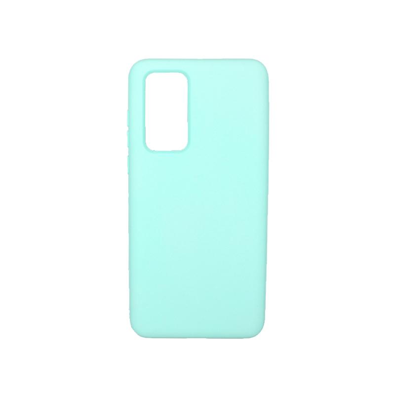 Θήκη Huawei P40 Silky and Soft Touch Silicone τιρκουάζ 1
