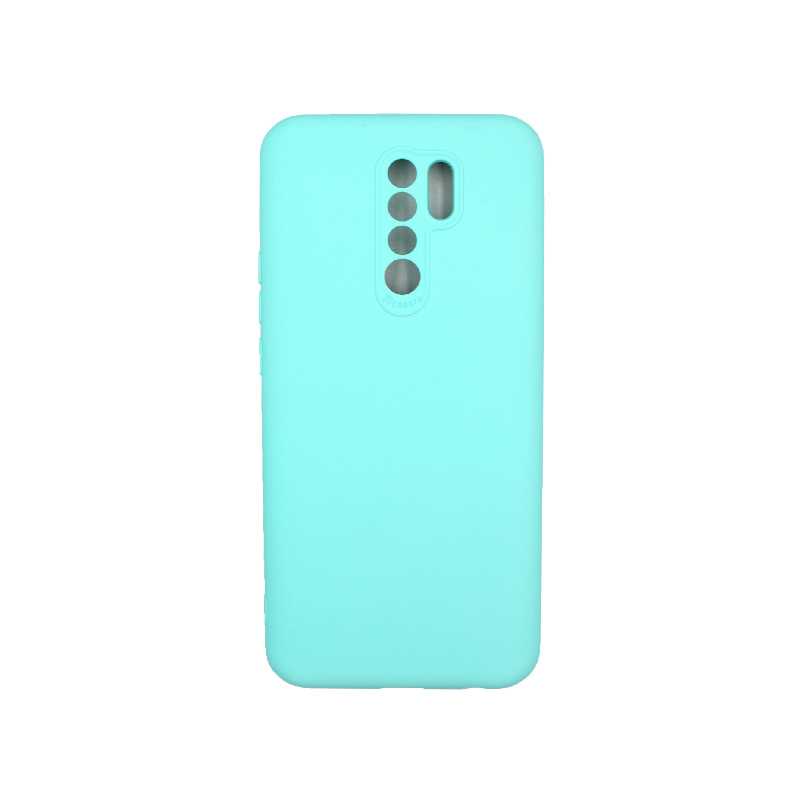 Θήκη Xiaomi Redmi 9 Silky and Soft Touch Silicone τιρκουάζ 1