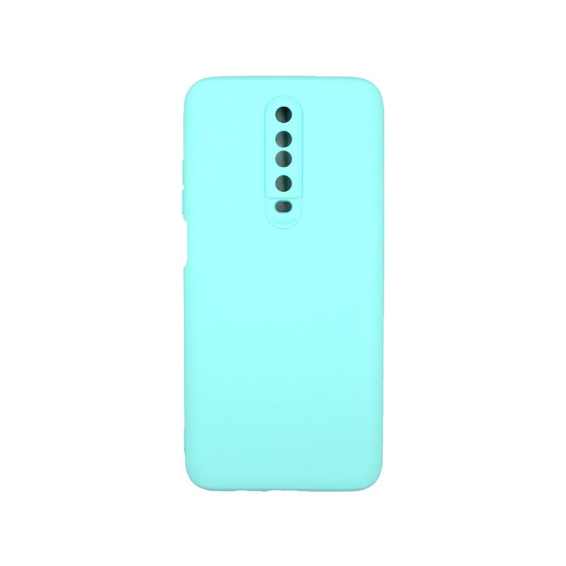 Θήκη Xiaomi Redmi K30 / K30 5G silky and soft touch σιλικόνη τιρκουάζ 1