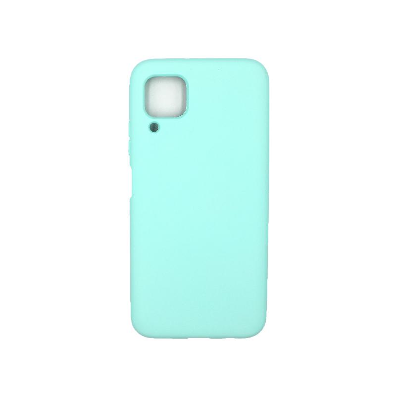 Θήκη Huawei P40 Lite Silky and Soft Touch Silicone τιρκουάζ 1