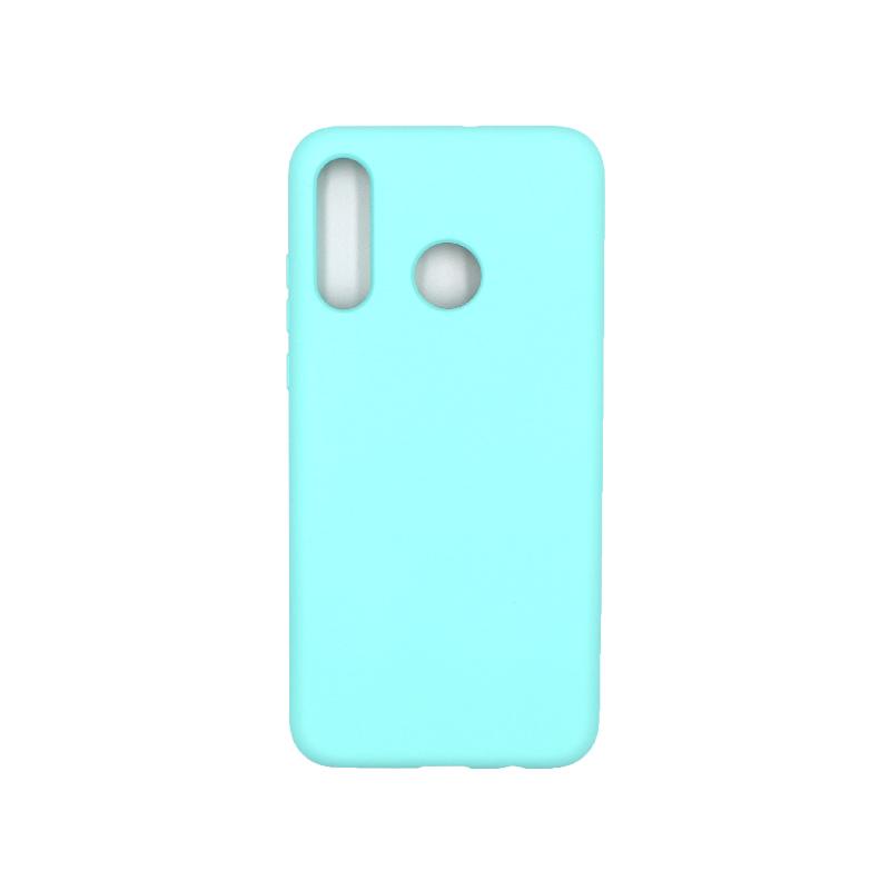 Θήκη Huawei P30 Lite Silky and Soft Touch Silicone τιρκουάζ 1