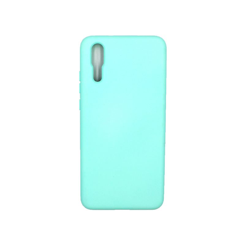 Θήκη Huawei P20 Silky and Soft Touch Silicone τιρκουάζ 1