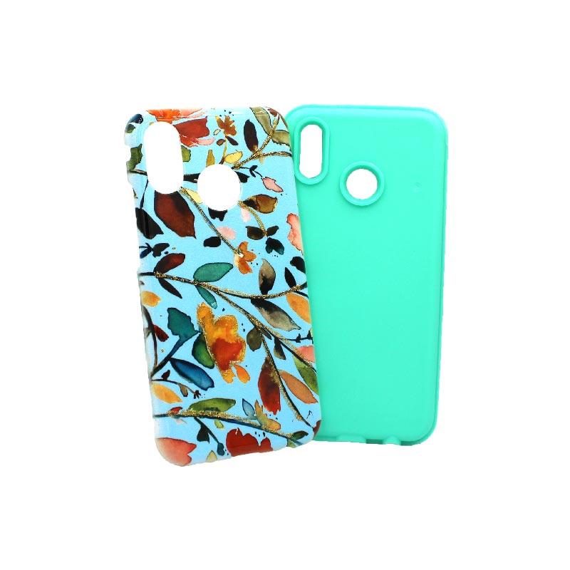 Θήκη Huawei P20 Lite λουλούδια μπλε 3