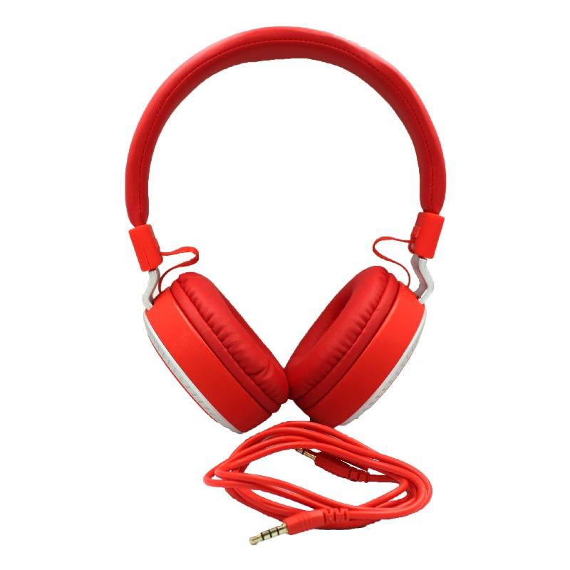 karler bass 380 ενσύρματα ακουστικά κόκκινο 1