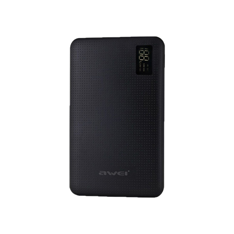 Awei Power Bank P56K 30000mAh Μαύρο