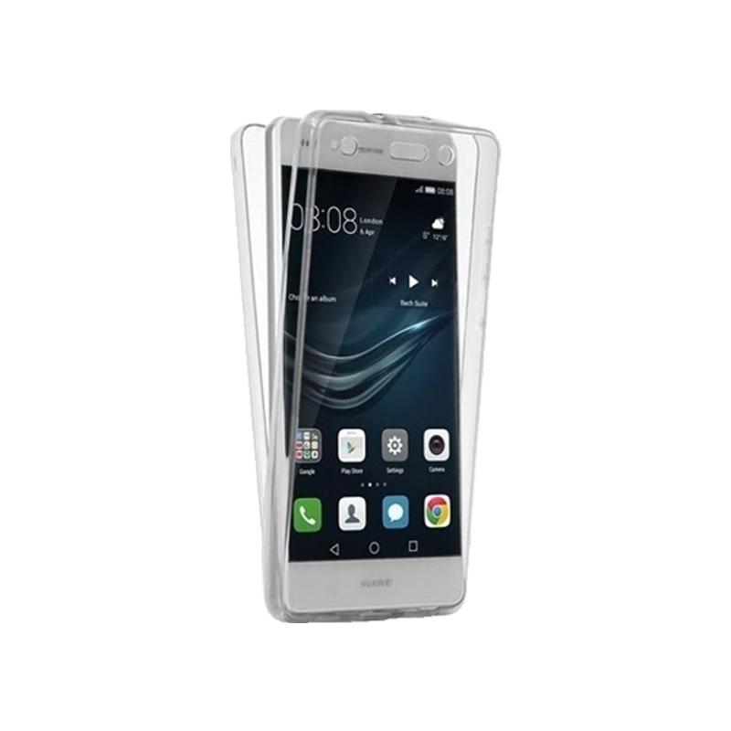 Θήκη 360 Full Cover Σιλικόνης Διάφανο Huawei P10