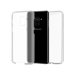 Θήκη 360 Full Cover Σιλικόνης Διάφανο Samsung Galaxy A5 / A8 2018