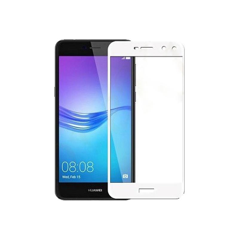 Προστασία οθόνης Full Face Tempered Glass 9H για Huawei Y5 2017 / Y6 2017 Άσπρο