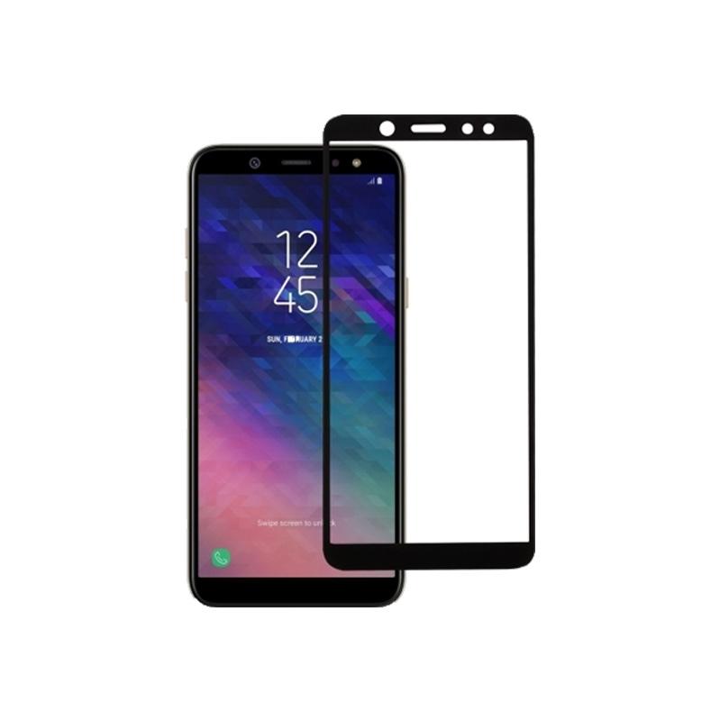 Προστασία οθόνης Full Face Tempered Glass 9H για Samsung Galaxy A6 2018 Μαύρο