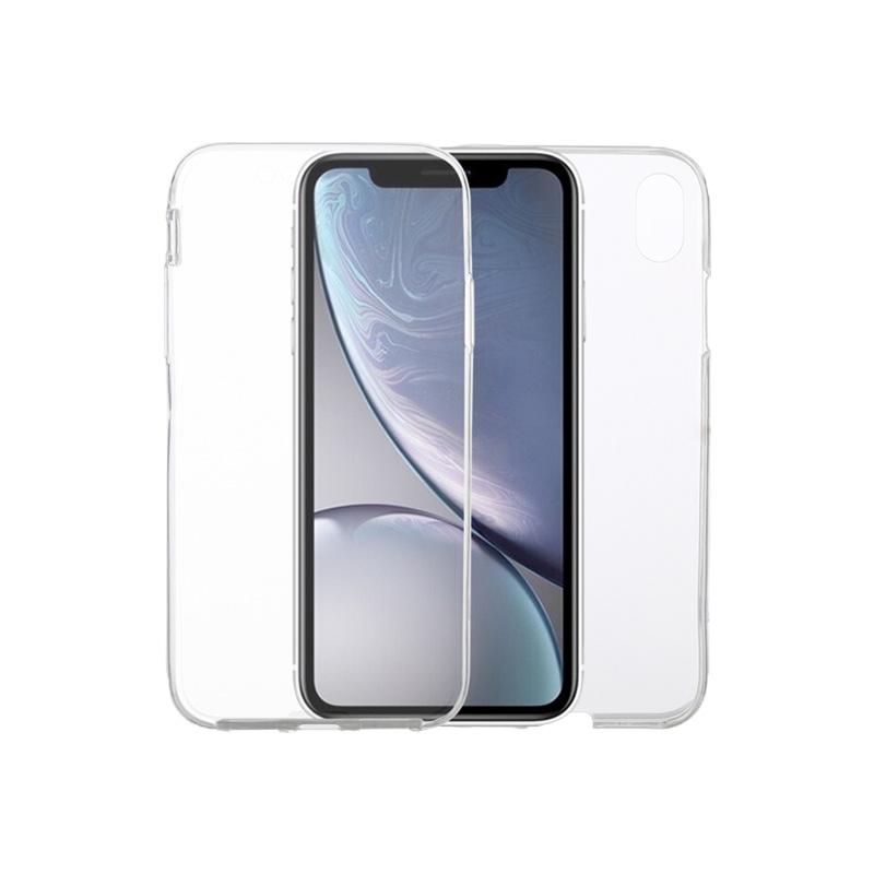 Θήκη 360 Full Cover Σιλικόνης Διάφανο για iPhone X / Xs