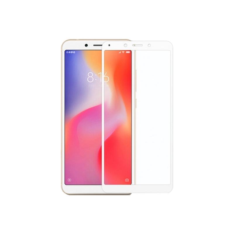 Προστασία οθόνης Full Face Tempered Glass 9H για Xiaomi Redmi 6 Άσπρο