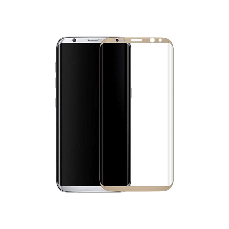 Προστασία οθόνης Full Face Tempered Glass 9H για Samsung Galaxy S8 Χρυσό