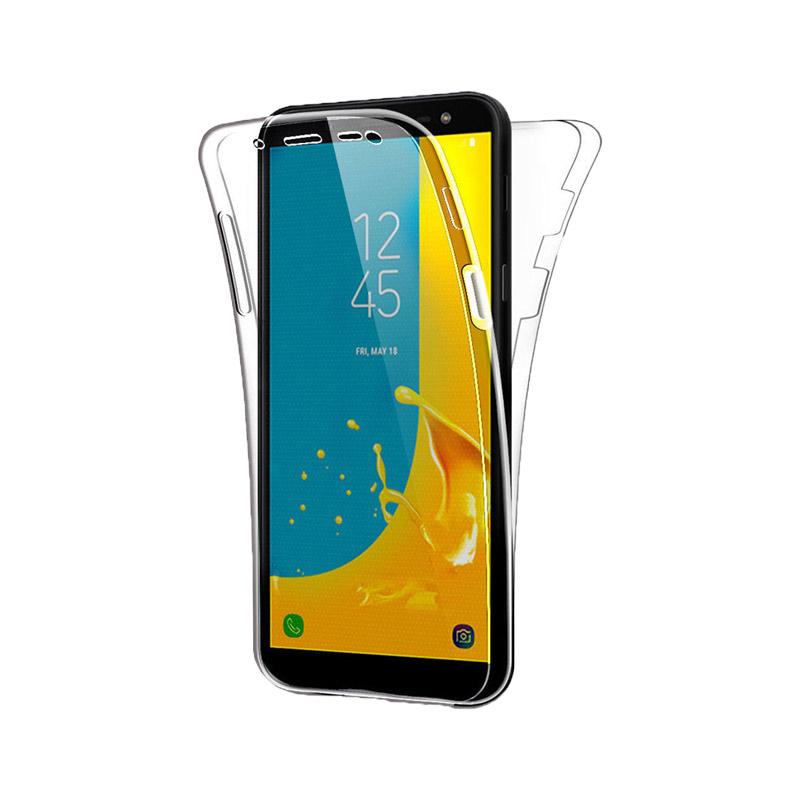 Θήκη 360 Full Cover Σιλικόνης Διάφανο Samsung Galaxy J6 Plus