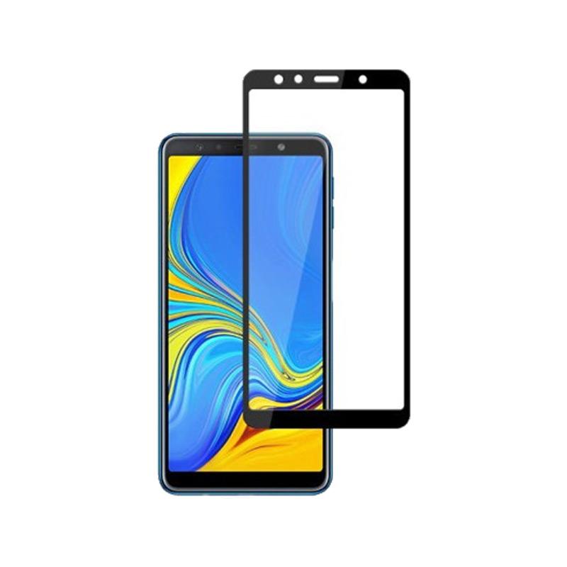 Προστασία οθόνης Full Face Tempered Glass 9H για Samsung Galaxy A7 2018 Μαύρο