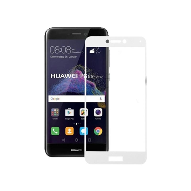 Προστασία οθόνης Full Face Tempered Glass 9H για Huawei P8 Lite 2017 / P9 Lite 2017 Άσπρο