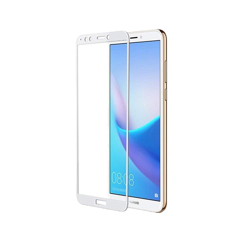 Προστασία οθόνης Full Face Tempered Glass 9H για Huawei Y7 2018 / Y7 Prime 2018 Άσπρο