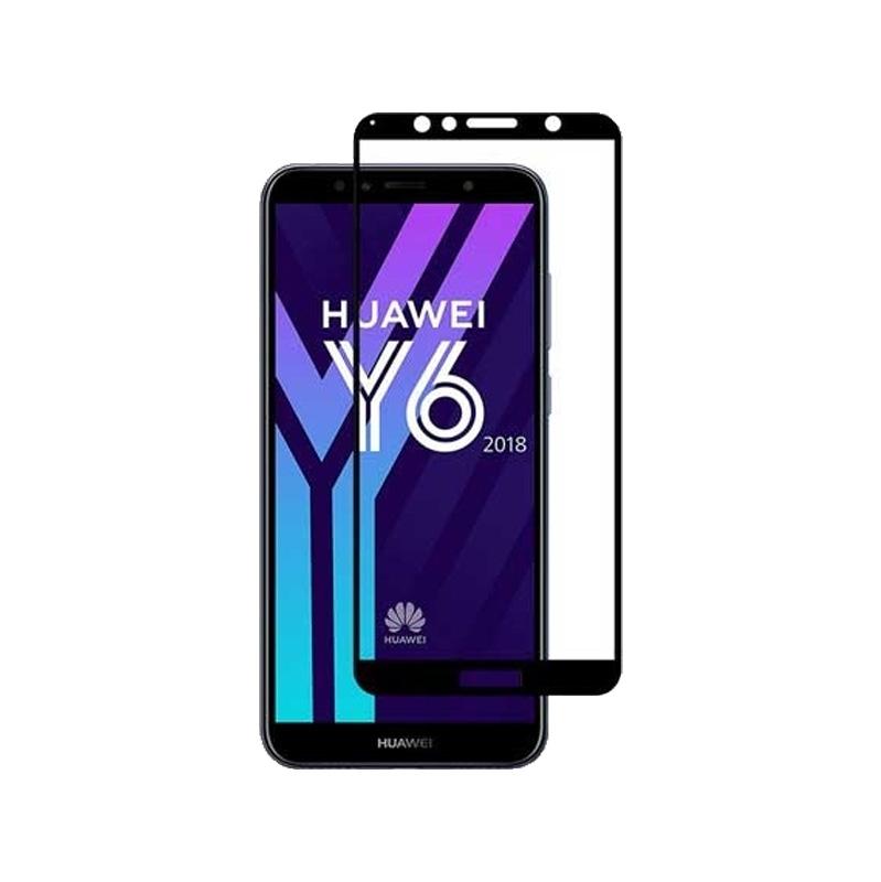 Προστασία οθόνης Full Face Tempered Glass 9H για Huawei Y6 2018 / Y6 Prime 2018 Μαύρο
