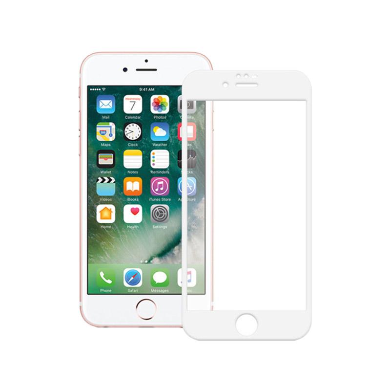 Προστασία Οθόνης Tempered Glass Full Face 9H για iPhone 6 / 6s Άσπρο