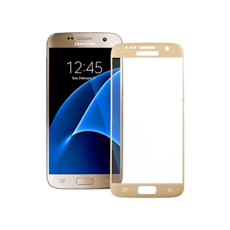 Προστασία οθόνης Full Face Tempered Glass 9H για Samsung Galaxy S6 Edge Χρυσό