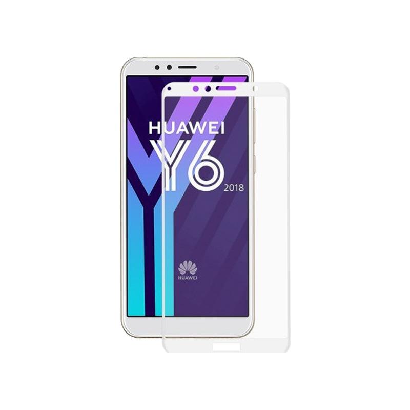 Προστασία οθόνης Full Face Tempered Glass 9H για Huawei Y6 2018 / Y6 Prime 2018 Άσπρο