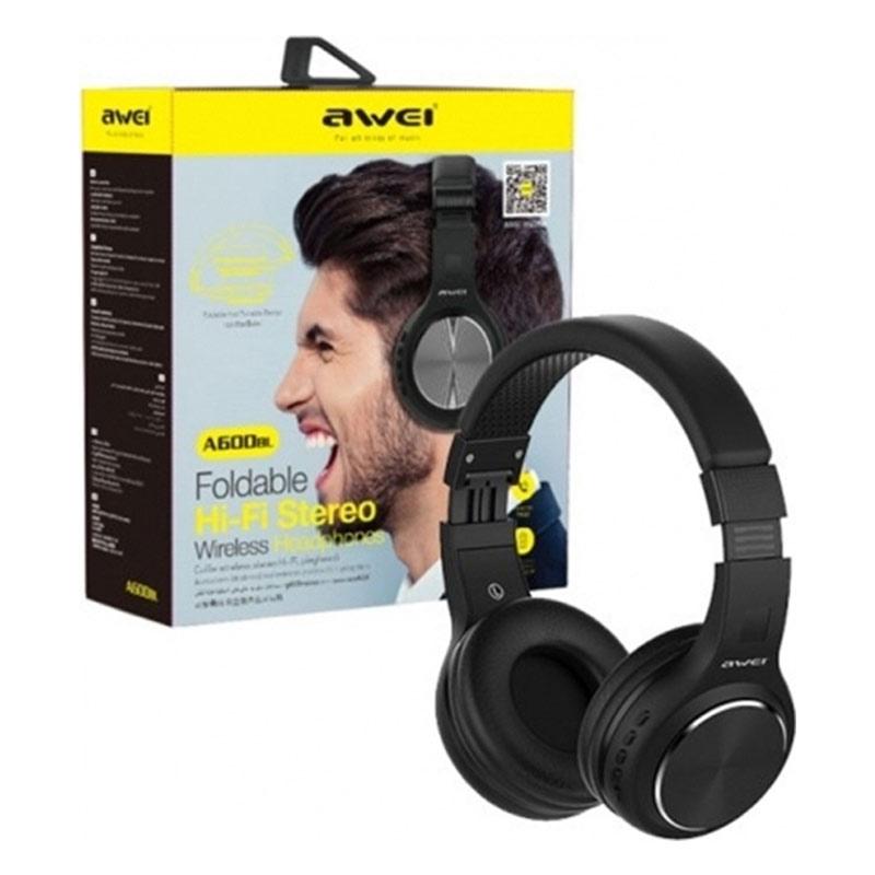 Awei Bluetooth Stereo Headphones A600BL Μαύρο-1