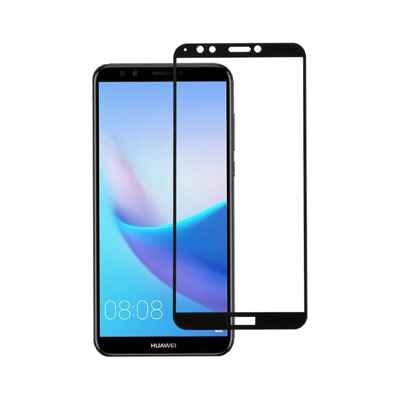 Προστασία οθόνης Full Face Tempered Glass 9H για Huawei Y7 2018 / Y7 Prime 2018 Μαύρο